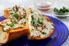 Cream Cheese Garlic Bread.  This was amazing!!  It went over very well with the whole family.
