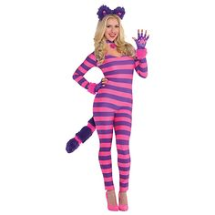 Dress up as the Cheshire Cat for Halloween.