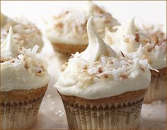 Vanilla cupcake topped with caramel and coconut is my all time favourite.