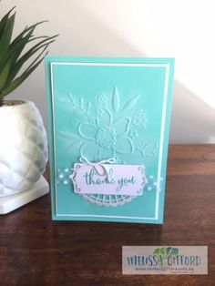 Melissa Gifford | Lovely Floral embossing folder | Stampin' Up!