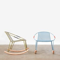 Designed by Adam Goodrum, the Valley Rocker features a zinc-plated steel frame, mesh seat panel, and rope handles (it's available in a range of powder-coated colors).  From Melbourne!  @Kasey Mirando Liv