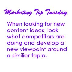 marketing tip tuesday: content marketing