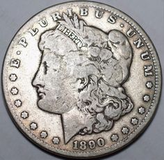 1890-CC $1 Morgan Silver Dollar-FINE Carson City-Free USA Shipping-FN