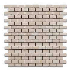 Crema Marfil Marble Tumbled Baby Brick Mosaic Tile