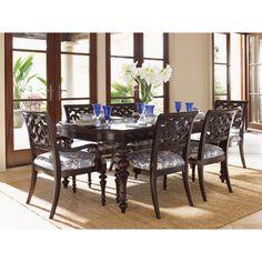 Tommy Bahama by Lexington Home Brands Royal Kahala Islands Edge Dining Table - 01-0537-877