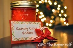 Candy Cane Infused Vodka - a great gift to give along with hot cocoa! - One Project Closer