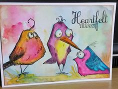 Tim Holtz bird crazy Daffysue's Creations