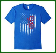 Mens American Flag Shirts Bicycle Cycling T-Shirt XL Royal Blue - Sports shirts (*Amazon Partner-Link)