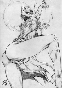 Batgirll 2 Pencil Sexy Beautiful Original Pinup Art by Renato Camilo – RC | eBay