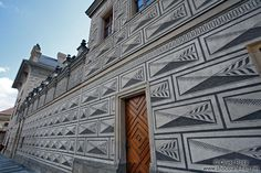 Facade of the Schwarzenberg palace in Prague Castle, Czech Republic