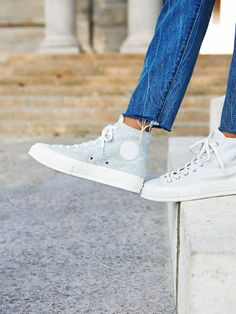 Chuck Taylor All Star '70 Hi Top | Step out in these classic Converse high top sneakers featuring a super cool denim design or a unique half leather, half suede look.