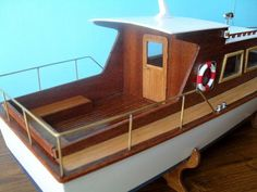 Wooden Boat Plans, Wooden Boats, Trawler Boats, Boat Design, Boat Building, Model Ships, Scale Models, Sailing Ships, Diy And Crafts