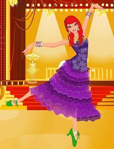 Ballroom Dancer Ariel by rahsa1978.deviantart.com