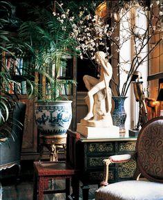 Second Empire exuberance Bohemian House Decor Empire exuberance Deco Boheme, Second Empire, Chinoiserie Chic, Asian Decor, Beautiful Interiors, Cheap Home Decor, Vignettes, Interior Inspiration, Interior Ideas