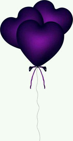 Purple Heart Ballon Png by Purple Love, All Things Purple, Shades Of Purple, Pink Purple, Purple Hearts, Purple Rain, Purple Balloons, Heart Balloons, Heart Wallpaper