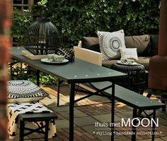 binnenkijken bij monicabodt_thuismetmoon - Opgeknapte biertafel