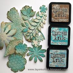 Encre Distress Ink, Tim Holtz Distress Ink, Distress Oxide Ink, Distress Ink Techniques, Embossing Techniques, Card Making Techniques, Druckfarben Im Distress-look, Flower Cards, Paper Flowers