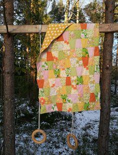 En mjuk och go quilt med jerseytyg på baksidan