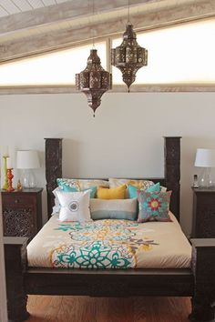 Bed Room: Handmade Lamps & Lanterns by local artisans in Morocco & India - Tara Design