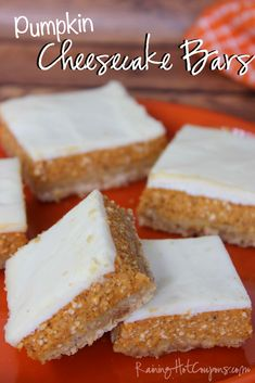 Will make some adjustments, but wow this will be yummy! Pumpkin Cheesecake Bars - Raining Hot Coupons