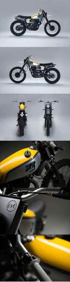 Cool Yamaha XT500 Scrambler: http://bikebrewers.com/yamaha-xt500-scrambler-by-654-motors/