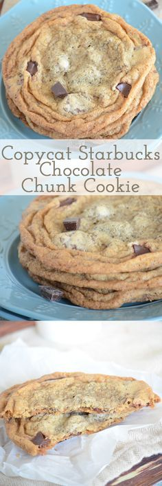 You have got to try this copycat Starbucks chocolate chunk cookie recipe! It tastes exactly the same - with a crisp outside and chewy middle! Go bake these now! Mini Desserts, Just Desserts, Delicious Desserts, Yummy Food, Oreo Dessert, Yummy Cookies, Yummy Treats, Sweet Treats, Gastronomia