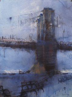 Painting by Antonio Masi. Landscape Artwork, Urban Landscape, Abstract Landscape, Architecture Sketchbook, Architecture Art, Impressionist Landscape, Impressionism, Urban Painting, Abstract City
