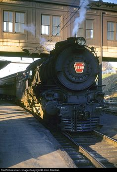 RailPictures.Net Photo: PRR 5218 Pennsylvania Railroad Steam 4-4-2 at Trenton, New Jersey by John Dziobko