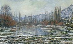 Claude Monet - The thaw at Vetheuil, 1880