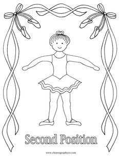 Reproducible Ballet Coloring Pages - third position Baby Ballet, Ballet Kids, Ballet Dance, Ballet Crafts, Dance Crafts, Teach Dance, Dance Camp, Kids Dance Classes, Dance Lessons