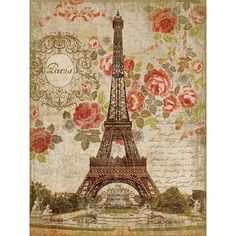 Vintage Signs Dreaming of Paris by Suzanne Nicoll Graphic Art Plaque