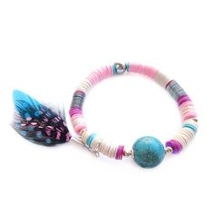 Boho, Aztec Style Bracelet AZTEQUIN.  Aztequin is a collection of hand-woven bracelets, made with sequins and natural stones finished with custom
