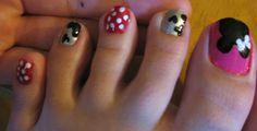 decoraciones para unas de pies mickey mouse Minnie, Mickey Mouse, Feet Nails, Pedicures, Nail Art, Fingernail Designs, Beauty, Baby Mouse