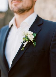 db3f90681e6 Classically elegant yet relaxed groom style. Groom Buttonholes