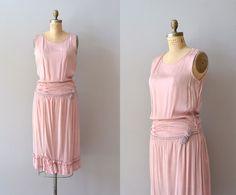 vintage 20s dress / silk 1920s dress / Circe silk by DearGolden, $238.00