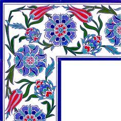 20 x 20 Tulip gemusterten Gin Border - China Patterns, Tile Patterns, Pattern Art, Armani Hotel, Dubai Hotel, Hotel Lobby Interior Design, Design Hotel, Art Deco Hotel, Bath Art