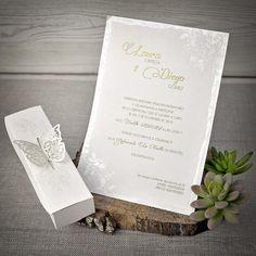 Invitatie cutie dreptunghiulara fluture 39338