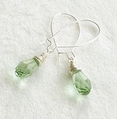 Wire Wrapped Peridot Swarovski Crystal by connectionsbymaya, $17.00