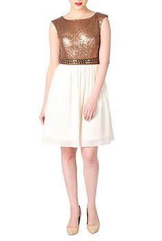 I <3 this Sequin chiffon crystal belted dress from eShakti...can customize length.