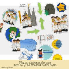 Plan of Salvation Cut-outs sized to fit on standard poster board - Etsy