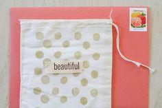 DIY embellished muslin envelopes | yourwishcake.com