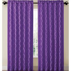 Victoria Classics Cassidy Rod-Pocket Curtain Panel  comes in purple and green - jcpenney