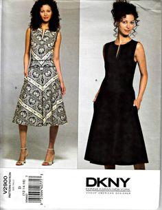 Vogue Donna Karan Pattern  V2900  DKNY Drop by ShellMakeYouFlip
