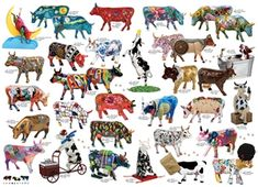 1000pc Cow Parade jigsaw puzzle | 51855 | Cobble Hill Puzzle Co