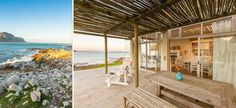 Disclosure: Must love penguins. This airy beach house overlooks Betty's Bay while penguins and dassies suntan themselves on the lawn South African Holidays, Holiday Destinations, Beach Trip, Penguins, Lawn, Beach House, Places To Go, Pergola, Beautiful Places