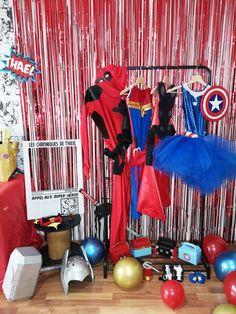 Organiser un anniversaire Marvel - SabrinaBerrich Captain Marvel, Captain America, Costume Thor, Anniversaire Harry Potter, Lets Celebrate, Diy Organization, Avengers, Party