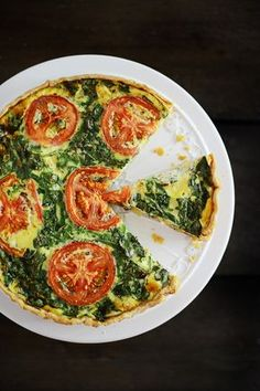 """Shrimp & Spinach Quiche [Guest post by Ana Frias """"Fit, fun & delish"""" blog]"""
