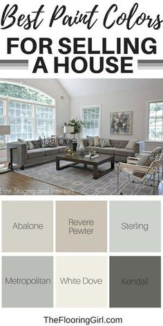 Best paint colors for selling a house. – Nicole Gashie-Lovis Best paint colors for selling a house. Best paint colors for selling a house. Best Paint Colors, Paint Colors For Home, Rustic Paint Colors, Popular Paint Colors, Farmhouse Paint Colors, Wall Paint Colors, Best Paint For Walls, Best Paint For Bedroom, Colors For Kitchen Walls