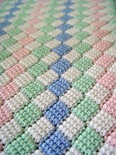 Crochet entrelac.