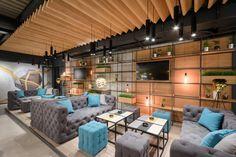 Enterijer restorana Limited u Ovči Modern Office Design, Conference Room, Patio, Studio, A4, Outdoor Decor, Table, Restaurants, Furniture